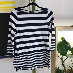 The Limited navy white striped t-shirt size M